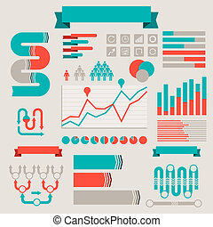 Vintage styled infographics elements.