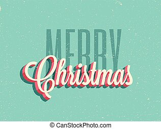 Vintage styled Merry Christmas background. Vector illustration.