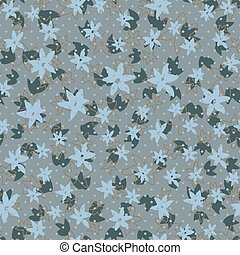 Vintage stylized floral seamless pattern. Flowers hand-drawn ink brush background
