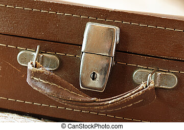 Vintage suitcase front view