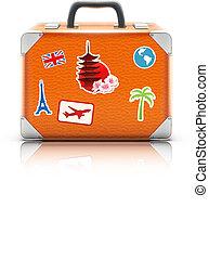 vintage suitcase - Vector illustration of vintage suitcase...