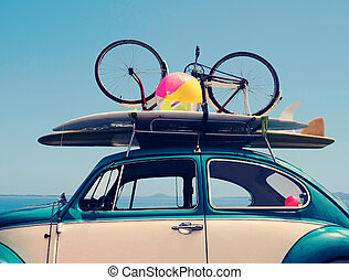 Vintage summer holiday road trip vacation - Vintage Summer...