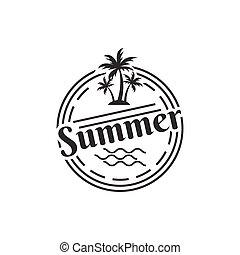 Vintage summer logo design template vector illustration
