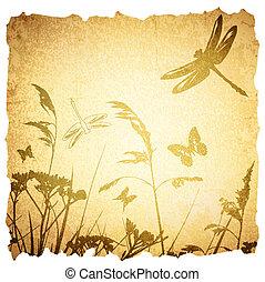 Vintage Summer Meadow Background
