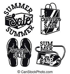 Vintage summer sale emblems