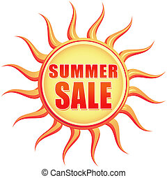 vintage summer sale - Summer sale retro style illustration...