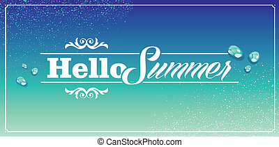 Vintage Summertime Holidays Poster. Retro Hello Summer ...