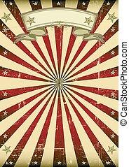 vintage sunbeams background - A vintage background with red...