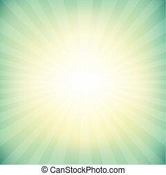 Vintage Sunburst Background With Bokeh