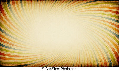 Vintage sunburst colorful wide background with aspect ratio...