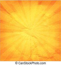 Vintage Sunburst Orange Paper