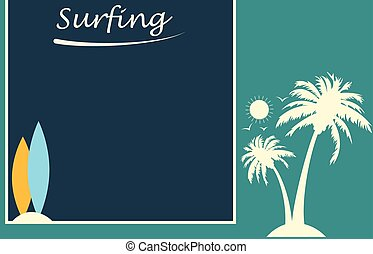 Vintage Surfing banner design