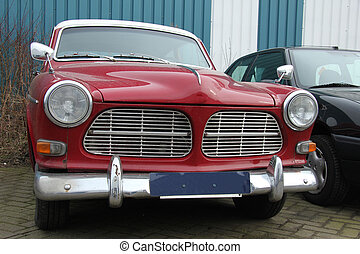 Vintage Swedish car - Vintage Red Swedish Car, made in 1966