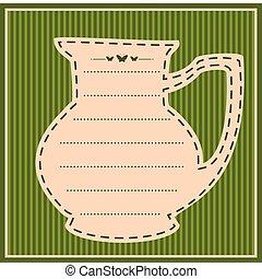 Vintage sweet tea pot. Vector