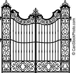 vintage swirled gate