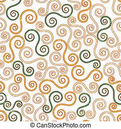 vintage swirls seamless pattern with grunge effect