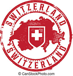 Vintage Switzerland Country Stamp