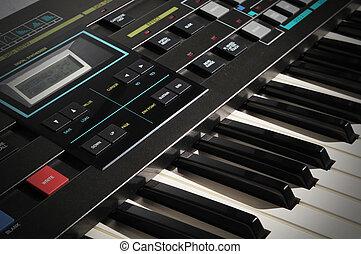 Vintage Synthesizer Keyboard
