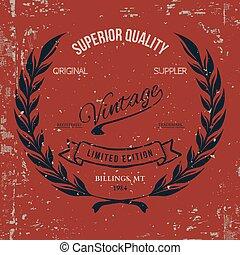 Vintage T-shirt Print Design. Vector