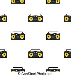 Vintage tape recorder for audio cassettes pattern