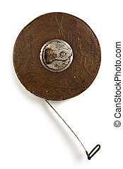 vintage tape rule - vintage crank wind measuring tape rule...