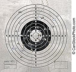 vintage target with hole heap, security - vintage target...