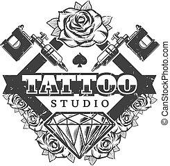 Vintage Rose Tattoo Template Vintage Rose With Snipes Ribbon