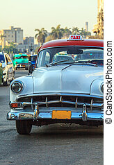 Vintage Taxi Cars, Havana, Cuba