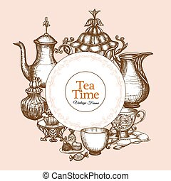 Vintage Tea Frame
