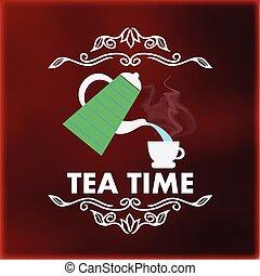 Vintage tea logo
