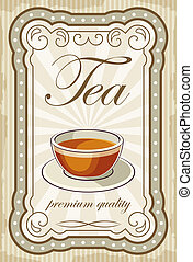 Vintage tea posters. vector illustration