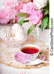 Vintage tea - Tea in the Shabby Chic style
