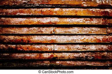 Vintage teak wood wall