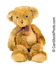 Vintage Teddy Bear Toy - View of an old style teddy bear...