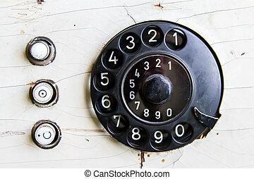 Vintage Telephone Dial Numbers