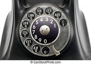 vintage telephone dial with numbers
