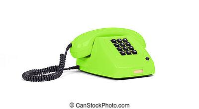 Vintage telephone - Green