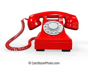 Vintage Telephone Isolated - Vintage Telephone isolated on...