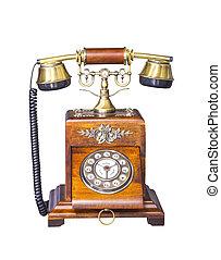Vintage Telephone on white