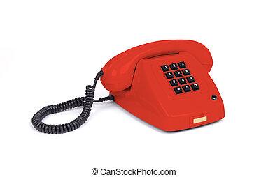Vintage telephone - Red