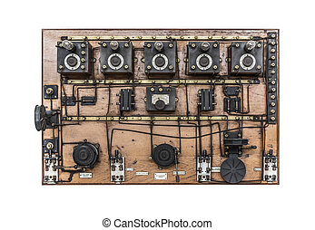 Vintage telephone switchboard.