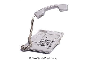 Vintage telephone with levitating phone handset
