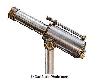 Vintage Telescope - Vintage Steel And Brass Telescope