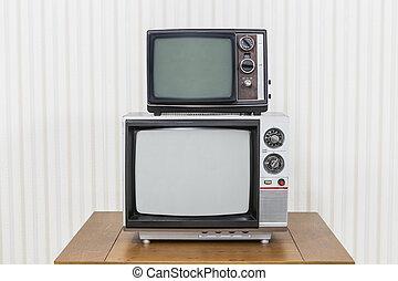 Vintage Television Stack