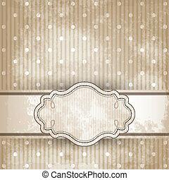 Vintage template frame design for greeting card