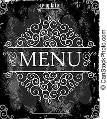 Vintage template with a cover for the menu
