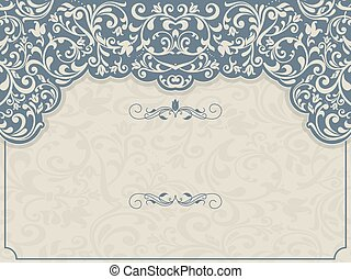 pattern for invitation, greeting