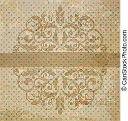 vintage template with vintage elements
