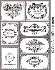 Vintage templates for wedding design
