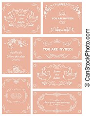 Vintage templates for wedding